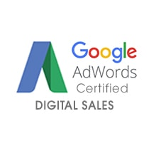 A Google AdWords Certified DIGITAL SALES Text Business Card Paper Symbol Logo Trademark Number Word