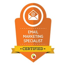 EMAIL MARKETING SPECIALIST CERTIFIED Advertisement Poster Text Paper Flyer Symbol Logo Label First Aid Dynamite