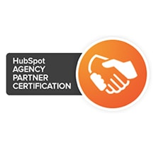 Hubspot AGENCY PARTNER CERTIFICATION Hand Text Paper Label Handshake
