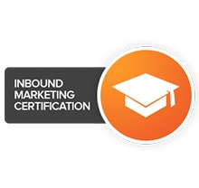 INBOUND MARKETING CERTIFICATION Text Label Sticker Tape Paper Indoors Logo Symbol Cushion Page