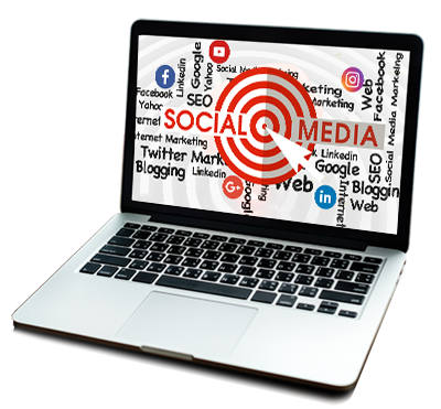social media target sign in laptop
