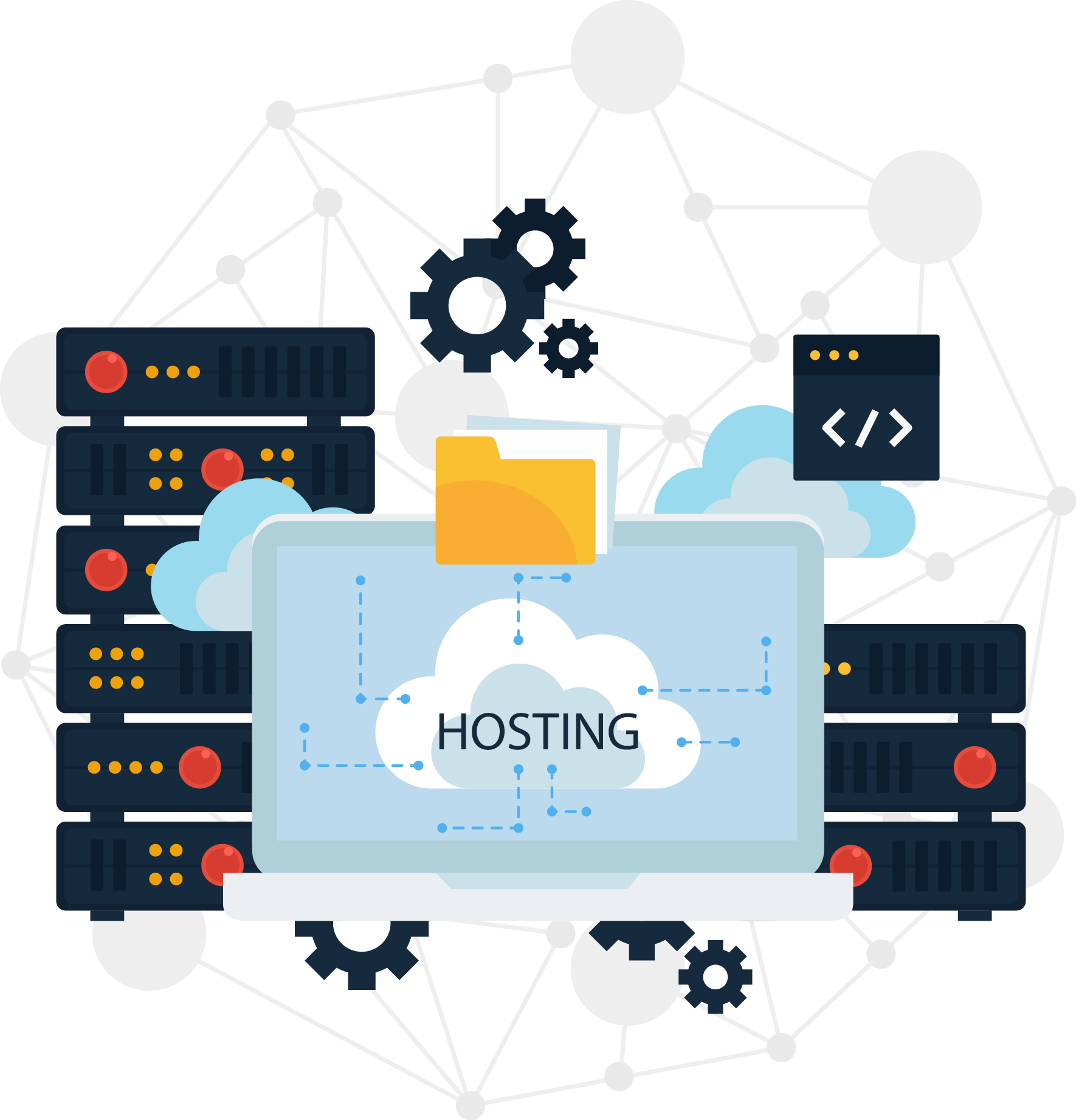 web hosting illustration