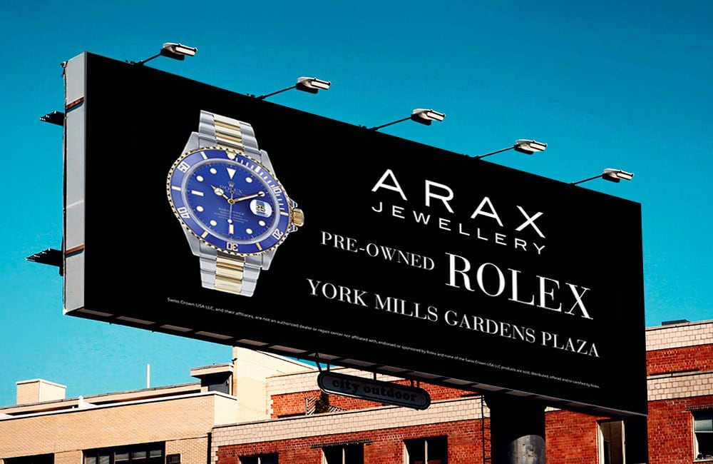ARAX Jewellery pre-owned Rolex watches available at York Mills Gardens Plaza