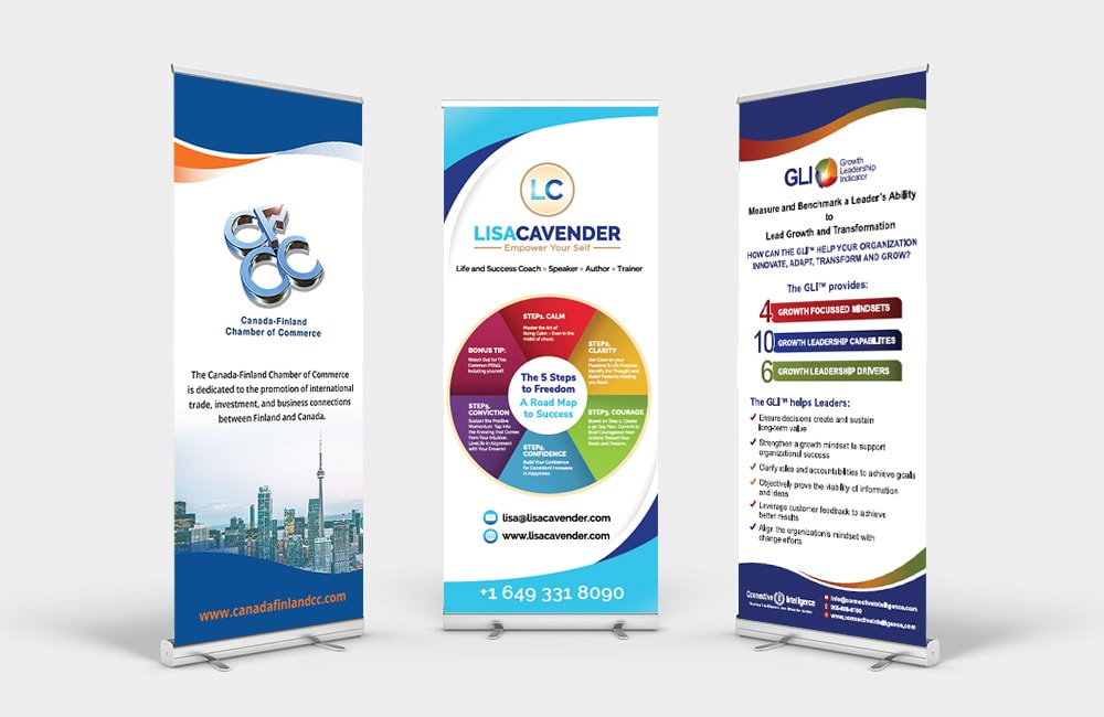 Graphic Design - Roll Up Banner Stands | Retractable and Customizable