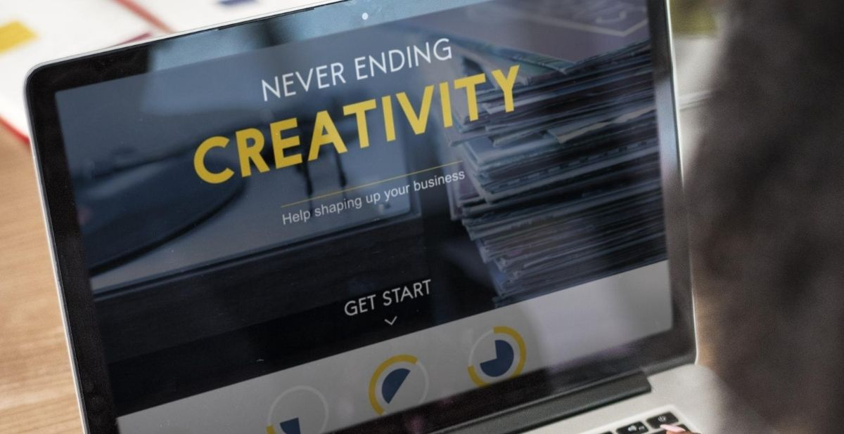 Website Design showing Never Ending Creativity